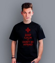 Kc & dont be afraid t-shirt męski czarny s
